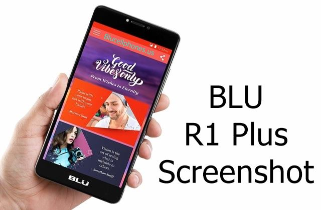 how to take screenshot in xperia r1 plus