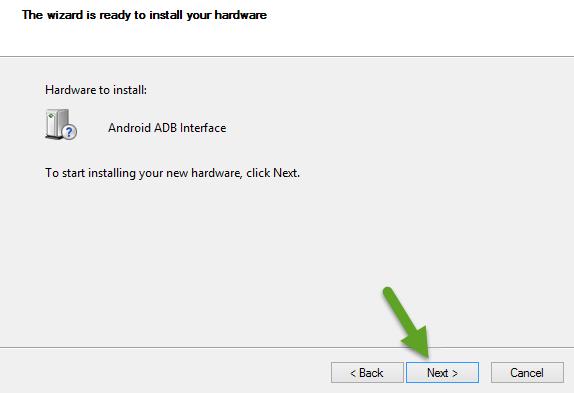 Install Android ADB Interface