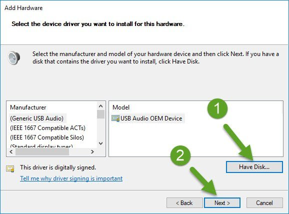 Select Device Driver