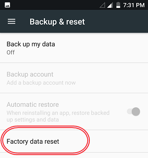BLU Phones Reset
